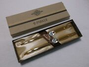 Vintage Parker Classic Imperial Gold Ballpoint Pen And .9mm Pencil Set New In Box