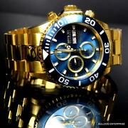 Reserve Pro Diver Swiss Made Automatic 7750 Valjoux Gold Plate Watch New