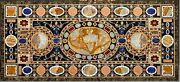 Handmade Crafts Stones Inlaid Dining Table Top Marble Hotel Table Use In Bar