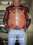 Unique Motorcycle Leather Jacket/vest Made-to-order.