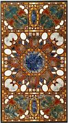 Black Marble Living Room Table Top Antique Work Dining Table From Marquetry Art