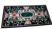 Vintage Art And Crafts Utility Table Top Gemstones Work Marble Dining Table Top