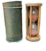 Antique Sand Clock Hourglass Timer Wooden Nautical Table Timer Made In Germany