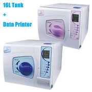 16l Dental Medical Sterilizer Autoclave Vacuum Steamer With Data Printing System