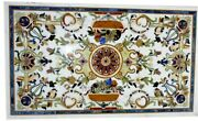 Marble Hotel And Bar Table Top Gemstones Inlay Work Dining Table Decor Furniture
