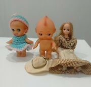 Two Kewpie Dolls And A Licca-chan Doll Dress-up Doll Made In Japan