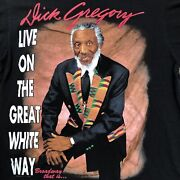 Vintage Dick Gregory On Broadway Tennessee River Rap Tee Black History 2pac