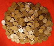 Lincoln Wheat Cent 1930 1934 To 1939 All P Av Circ 500 Coins 10 Roll Mixed Dates