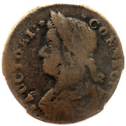 1787 M 31.1 Obverse Brockage R-7- Pcgs Vg 10 Connecticut Colonial Copper Coin