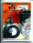 Mike Trout 2019 Topps Tribute Stamp Of Approval Orange Soa-mtr Sp D 15/25