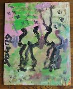 Purvis Young Freedom Won, A Celebration 30 H X 24 W Original Owner Coa