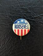 1930s Roosevelt Green Duck + Truman/barkley, Wallace And Ike Button Pins