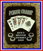 Quality Poker Hold'em Personalized Award Plaque Trophy