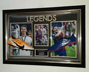 Lionel Messi And Cristiano Ronaldo Signed Football Boots Autographed Display