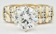 Estate 14k Yellow Gold 9mm Faux And Real .54 Cttw Channel Set Diamond Ring Size 9