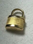 14k Yellow Gold Mechanical Lock W/ Button Release Clasp Made Italy Works Great