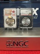 2 Oz 2018 Canada Silver Maple Leaf 30th Anniversary Ngc Ms 69 S5 9999 Silver