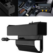 Car Seat Organizer Storage Box 2 Usb W/ Charger Cable For Iphone Android Type