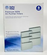 Fette Filter 6-pack Hepa Air Purifier Filters Compatible Hrf-r3, Filter R
