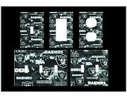 Las Vegas Raiders 3 Light Switch Covers Home Decor Outlet Multiple Options