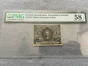 5 Cents Second Issue Fractional Currency Pmg Certified