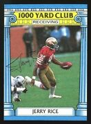 1987 Topps1000 Yard Clubjerry Ricerare Vintage Signature Autographed Card