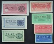 Nazi Germany Reichsmarks Wwii Soldiersandacute Money For The Vehrmaht Set Of 7 Notes