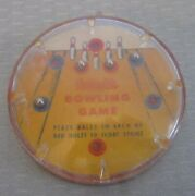 Vtg Reliable Bowling Game Dexterity Ball Pocket Puzzle Hard Plastic Made Canada