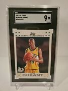 Kevin Durant Rc 2007-08 Topps Variant White Rookie Mint Sgc9 Warriors G Rc Goat