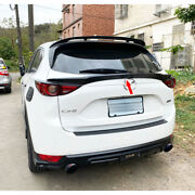 Glossy Black B-look Rear Middle Trunk Spoiler For Mazda Cx-5 Cx5 2nd Hatchback
