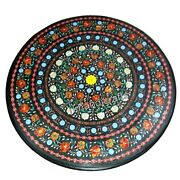 Semi Precious Stones Inlaid Dining Table Top Round Marble Coffee Table For Home