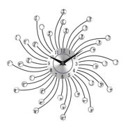 30x3d Large Wall Clock Metal Crystal Modern Home Decoration Silent Clocks For