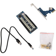 30xpci-e Express X1 To Dual Pci Riser Extend Adapter Card With 1m Usb3.0 Cable