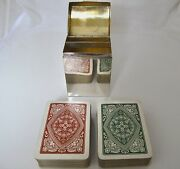 Lovely Small Edwardian Silver Playing Card Box And Ps And Co London 1904