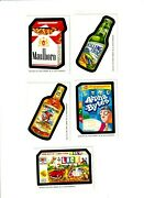 2010 Wacky Packages Postcards Series 6 Bio Cards Complete Set Of Five Rare..