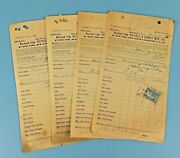 4 Shipping Receipts Russell Erwin Mfg Co To Mowry Latshaw Co Spring City Pa 1900