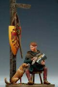 Tin Toy Soldier 54 Mm Superb Elite Painting In St.petersburg.the Squire And Dog
