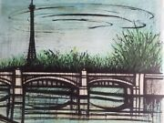 Bernard Buffet Lithograph Le Tour Eiffel Hand Signed Numbered Arches 1968