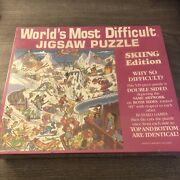 Worlds Most Difficult Jigsaw Puzzle Skiing Edition Vintage 1991 New Free Ship