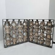 Antique 8 Cavity Hinged Kewpie Doll Heavy Metal Chocolate Candy Mold 1910-1920and039s