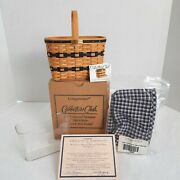 Longaberger Collector's Club Jw Mini Bread And Milk Basket+liner+prot+card 2000