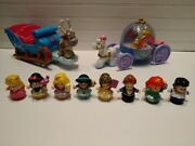 Fisher Price Little People Disney Princess Carriage Sleigh Lot Set
