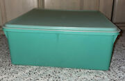 Tupperware Square Keeper 36 Cup 2 Gallon Jadite 12x12x5 Lg Container +grids 166