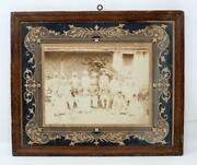 Ancient Rare Handcrafted Collectible Handmade Frame Royal Family Photograph