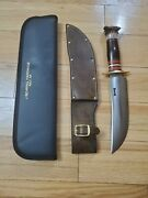 Treeman Knives Jim Behring Crown Stag Bowie Knife
