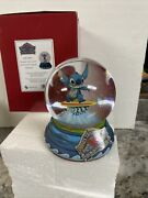 """Disney Jim Shore Lilo And Stitch """"shootin' The Curls"""" Surfer Surfing Water Globe"""