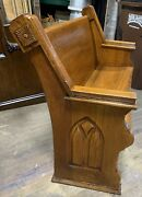 """Nice Antique Country Church Pew 48"""" Upstate New York"""