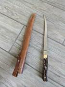 7 Vintage Uncle Henry Stag Shrade Leather Sheath 167 Usa Fixed Fillet Knife