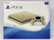 Sony Playstation 4 Gold Slim 1tb Console Ps4 Cuh-2015b +extra Controller Sealed