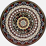 Antique Work Dining Table Top Gemstones Inlay Work Marble Restaurant Table Top